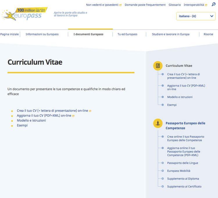 curriculum-vitae-europeo